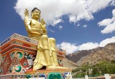Statue de Bouddha au monastère de Likir, Ladakh, Inde image libre de droits