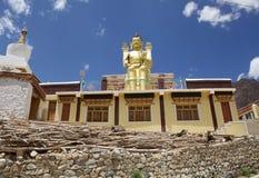 Statue de Bouddha au monastère de Likir, Ladakh, Inde photos libres de droits