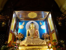 Statue de Bouddha au temple de Mahabodhi, Bodhgaya Photo libre de droits