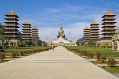 Statue de Bouddha aux FO Guang Shan à Kaohsiung, Taïwan Images stock