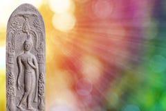 Statue de Bouddha avec le fond de bokeh Image stock