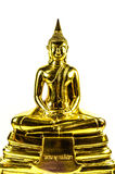 Statue de Bouddha d'isolement sur le fond blanc Image stock