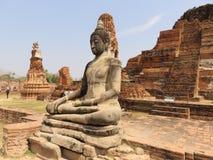 Statue de Bouddha dans Ayuthaya Images libres de droits