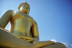 Statue de Bouddha dans Ayuttaya Thaïlande Photographie stock libre de droits