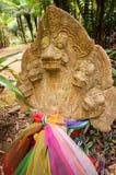 Statue de Bouddha dans la forêt Image libre de droits