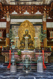 Statue de Bouddha dans le Butsuden Hall (Bouddha Hall) au temple de Daitoku-JI à Kyoto Photo libre de droits