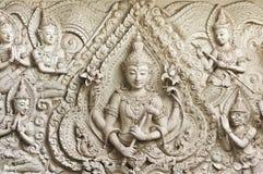 Statue de Bouddha dans le moulage thaï art. de type. photos libres de droits