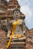 Statue de Bouddha dans le temple antique public, Ayuthay, Thaïlande Photo libre de droits