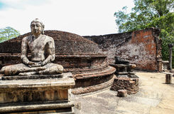 Statue de Bouddha dans le temple chez Polonnaruwa, Sri Lanka Photographie stock