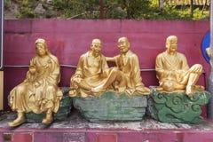 Statue de Bouddha dans le temple chinois Photographie stock
