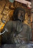 Statue de Bouddha dans le temple de Todai-ji, Nara Photo libre de droits