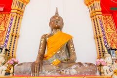 Statue de Bouddha dans le temple, Thaïlande image libre de droits