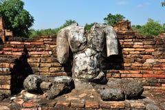 Statue de Bouddha de ruine dans Sukhothai Photo libre de droits