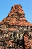 Statue de Bouddha de ruine dans Sukhothai Photographie stock