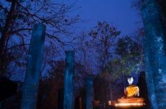 Statue de Bouddha en stationnement historique de Sukhothai Images libres de droits