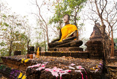 Statue de Bouddha en stationnement historique de Sukhothai Images stock