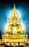 Statue de Bouddha en Wat Benchamabophit Dusit Wanaram, Bangkok Photographie stock libre de droits