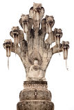 Statue de Bouddha et de cobra Photographie stock libre de droits