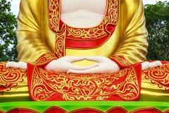 Statue de Bouddha faite de stuc photo stock