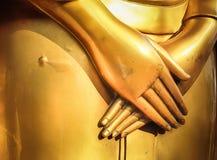 Statue& x27 de Bouddha ; main de s Photographie stock libre de droits