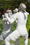 Statue de boxe de la Thaïlande Image libre de droits