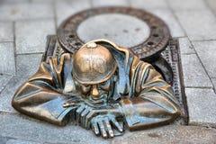 Statue de Bratislava Photographie stock libre de droits