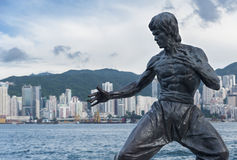 Statue de Bruce Lee Images libres de droits