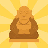Statue de Budda d'illustration spirituelle de vecteur de sculpture en méditation de culture de budha d'harmonie de la Thaïlande illustration stock