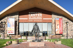Statue de Buffalo Bill au centre de l'ouest Images libres de droits