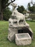 Statue de chèvre Images libres de droits