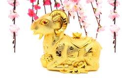 Statue de chèvre pendant la nouvelle année chinoise 2015 Photo stock