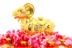 Statue de chèvre pendant la nouvelle année chinoise 2015 Image stock