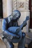 Statue de chanteur de Fado à Lisbonne images libres de droits