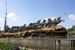 Statue de char d'Arjuna Wijaya à Jakarta Photo stock
