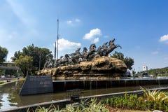 Statue de char d'Arjuna Wijaya à Jakarta Photographie stock libre de droits
