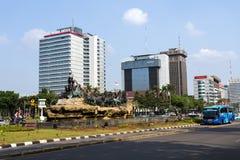 Statue de char d'Arjuna Wijaya à Jakarta Images libres de droits