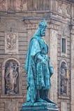 Statue de Charles à Prague Images libres de droits