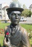 Statue de Charlie Chaplin dans Vevey, Suisse Photographie stock libre de droits