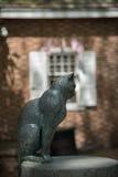 Statue de chat à la maison de Betsy Ross Photos libres de droits