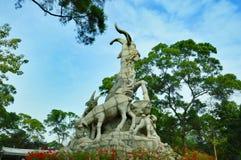 Statue de Cinq-chèvres Images stock