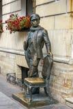 Statue de cintreuse d'Ostap à St Petersburg, Russie image libre de droits