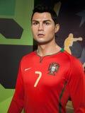 Statue de cire de Cristiano Ronaldo Photographie stock libre de droits