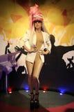 Statue de cire de Madame Gaga Photographie stock libre de droits