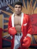 Statue de cire de Muhammad Ali Images libres de droits