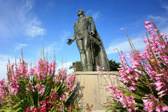 Statue de Columbus sur la colline de télégraphe Photos libres de droits