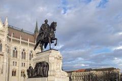 Statue de compte Gyula Andrassy - premier ministre hongrois, près de photo libre de droits