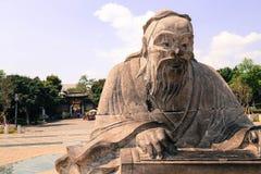 Statue de Confucius Images libres de droits