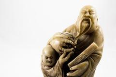 Statue de Confucius avec l'espace de copie Images stock