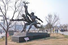 Statue de coureur Images stock