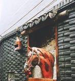 Statue de cuivre de tête de cheval images stock